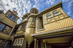 Famous Door to Nowhere at the Winchester Mystery House Stock Photos