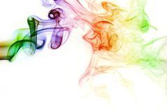 smoke of Joss stick - stock photo