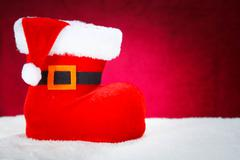 Cute Christmas Boot - stock photo