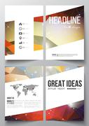 Set of business templates for brochure, magazine, flyer, booklet or annual re Stock Illustration