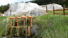 Travertine deposit in Egerszalok, Hungary - stock footage