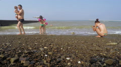 Sochi Beach summer - stock footage