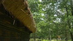 A Roof Covering of Straw Stock Footage