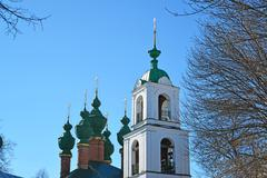 Church of Annunciation and Ascension Cathedral in Yaroslavl, Russia - stock photo