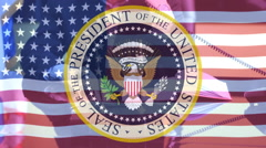 Seal of the President of USA,campaign election Stock Footage