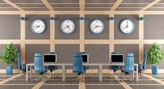 Elegant modern boardroom - stock illustration