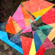 Abstract watercolor geometric background Stock Illustration