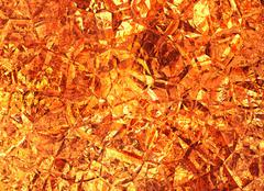 Golden colored relief crystal fire backgrounds Stock Illustration