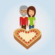 person party celebration design - stock illustration