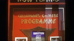 1957: Grauman's Chinese Theatre Programme movie theatre tourist attraction. Stock Footage