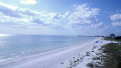 Aerial of Pass-a-Grille Beach in Florida Stock Footage