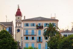 Church of Saint Spyridon of Trimythous (1590), Corfu city - stock photo