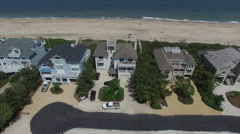 Waterfront Property on the Atlantic Ocean Fly Over Stock Footage