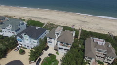 Waterfront Property on the Atlantic Ocean Rotating Shot Stock Footage