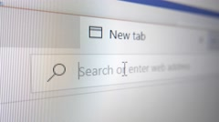 4K HELP Typed in Web Search Bar Stock Footage