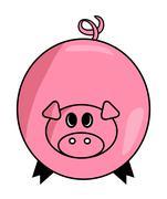 Cartoon pig vector symbol icon design. Cute animal illustration isolated on w Piirros
