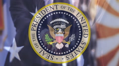 Seal of the President of USA Stock Footage
