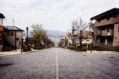 Hashiman zaka Slope at Motomachi, Hakodate - stock photo