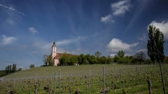 Birnau Basilica Monastery at Lake Constance in Germany - Time Lapse Stock Footage