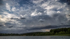 Stormclouds forming over a Lake in Germany - Time lapse Stock Footage