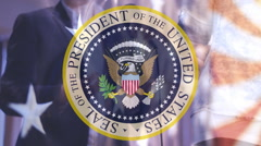 Seal of the President campaign election  Stock Footage