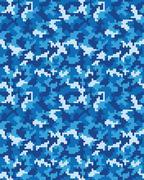 Seamless digital camouflage Stock Illustration
