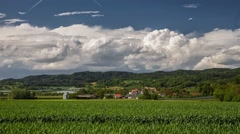 Stormclouds forming over a Field in Germany - Time lapse Stock Footage