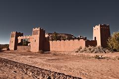 Gateway, Ait-Ben-Haddou, Morocco, North Africa - stock photo
