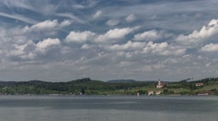 Clouds moving over Lake Constance, Germany - Time Lapse Stock Footage