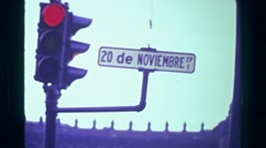1978: 20th of November Street revolutionary war to overthrow dictator Porfirio Stock Footage