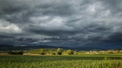 Storm clouds during sunset over Germay - Time Lapse Stock Footage