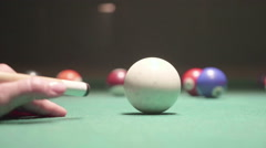 Playing pool/ pocket billiards - Shot01 - CC Stock Footage