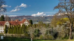 Schloss Salem Elite School, Germany - Time Lapse - stock footage