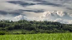 Stormclouds forming over a Field in Germany - Time lapse - stock footage