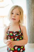 Girl wearing bathing suit - stock photo