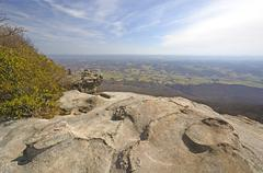 View from the Whites Rocks on a Sunny Day - stock photo