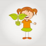 Ecologically kids design Stock Illustration