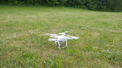 Drone take off in slow motion Stock Footage