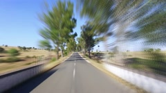 Speedy Driving on a Road in Countryside - stock footage