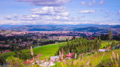Ecuador. View on Cuenca. 4k time lapse Stock Footage