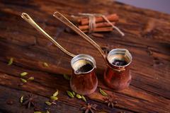 two Turk coffee - stock photo