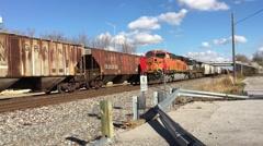 Busy Train Tracks Ft Wayne Indiana Stock Footage