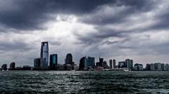 The new buildings of Jersey City, NJ, USA - stock footage