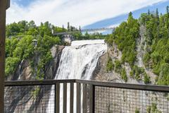Aerie view of Montmorency Falls Stock Photos