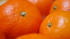 Fresh juicy tangerines on plate healthy fruit background 1080p FullHD video - Stock Footage