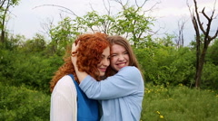 Best friends embracing. Stock Footage