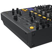 Control panel buttons dj mixer, close view Stock Illustration