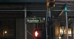 Broadway Street Sign in Manhattan New York 4k Stock Video - stock footage