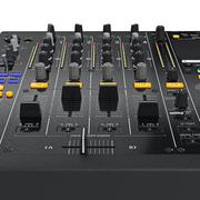 Parameter control table, dj mixer, zoomed view Stock Illustration