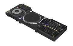 Set mixer dj music equipment - stock illustration